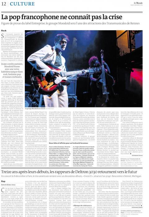 Le Monde le 5 décembre 2013